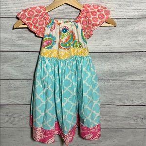 Eleanor Rose girls dress- size 5-6